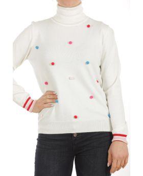 Μπλούζα ζιβάγκο με pon pon - 21056